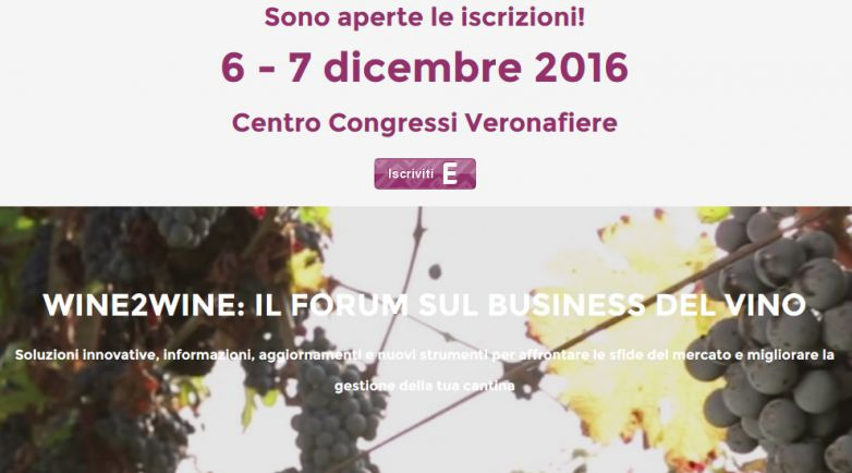 WINE2WINE: IL FORUM SUL BUSINESS DEL VINO